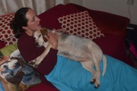Lottie cuddles