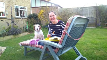 Dinner with Lottie in the garden