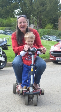 Scootering with the gorgeous Harry