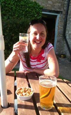 Enjoying an evening pub visit