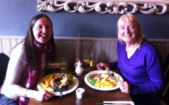 Enjoying a meal out with my Mum