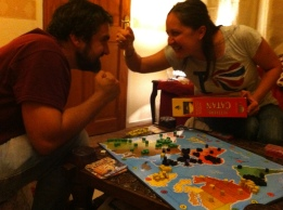 A board game battle with the bro!