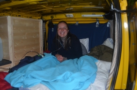 First night sleeping in the van