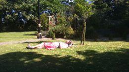 Sunbathing!