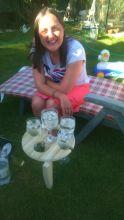 Drinks in our garden
