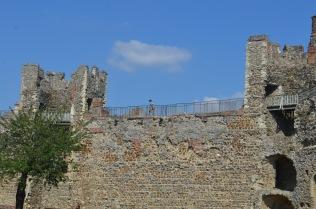 Lottie walking the castle walls!