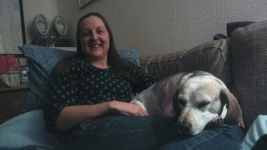 Cuddles on the upstairs sofa!