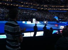 Phil cheering Murray the winner