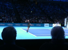 Murray hitting a fast serve!