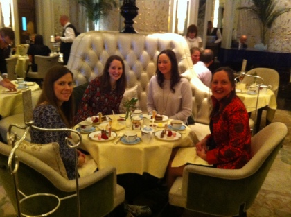 Having afternoon tea with my girlies!