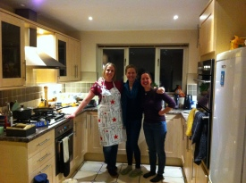 A housewarming with childhood friends Kate and Louise!