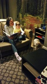 Story time.. and Lottie is listening too!