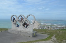 Group photo overlooking Weymouth and Chisel beach!