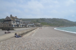 One end of Chisel beach at Chiswell!