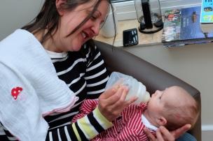 Feeding baby Soraia!