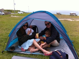 Sheltering from the wind!