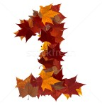 1178394_stock-photo-number-one-multicolored-fall-leaf-composition-isolated