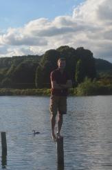 Phil stuck on a pole!