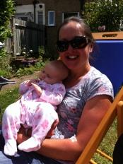 Cuddling Baby Soraia...
