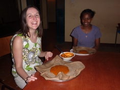 Dinner on first night- Belanche made us shiro wat and injura