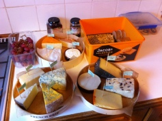 Phil's immense cheese board and homemade chutney!