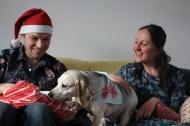 Lottie opening her new coat present!
