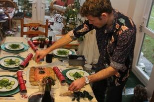 Phil's fabulous salmon terrine starter!