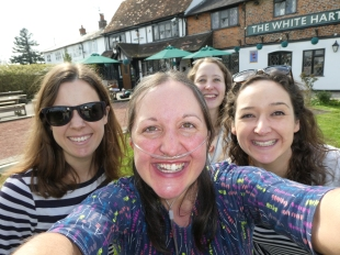 Pub garden selfie...