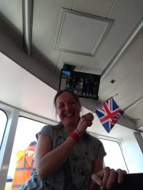 Watching the Royal wedding on the ferry!