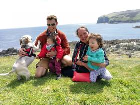 With the nephew and niece at the Calf of Man