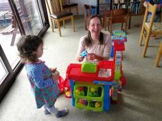 Playing shop with Mei Yan