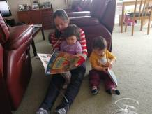 Reading to MY and JY