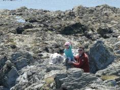 Phil teaching MY to rock climb