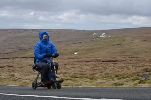 Scootering up the highest road in Britain