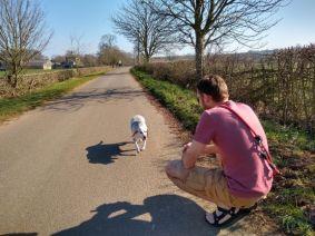 Dog walk around our village