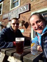 Pub garden on holiday