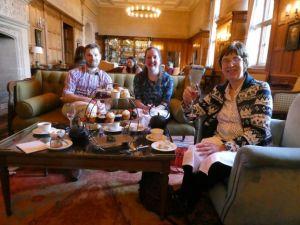 Eynsham Hall for afternoon tea
