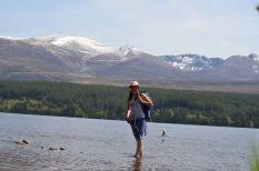 Paddling in Loch Morlich, Cairngorms