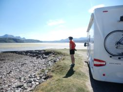 Wild camping at Kyle of Tongue