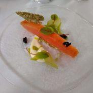 Loch Duart smoken salmon, cucumber, horseradish, seaweed crisp, avruga cavier