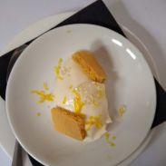 Lemon 'cheesecake', lime cavier, shortbread