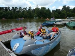 Our fab electric boat!