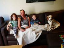 Cuddles under the blanket