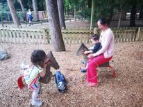 Playing on the park