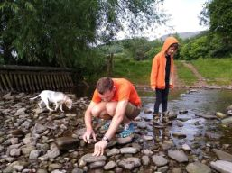 Our first evening visit to the river