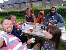 Playing Exploding Kittens in the pub garden