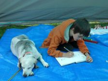 Jacob drawing Lottie