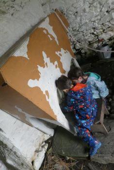 Milking cows at Cregneash museum