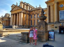 Blenheim Palace with my Mum