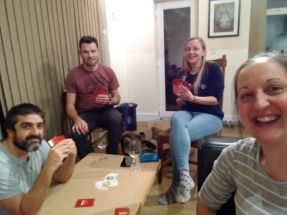 Game night with bro and Emma